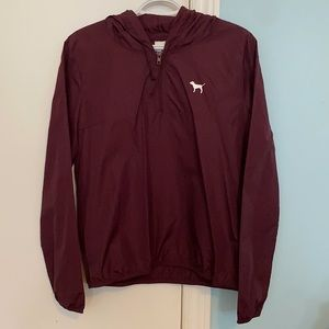 Brand New PINK VS Burgundy Wind Breaker